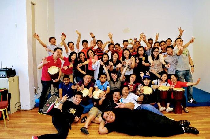 Drums Team Building In Singapore Teambonding Com Sg