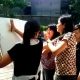 women drawing during art jamming team building activities singapore