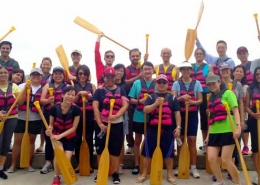 Dragon boat Team bonding group