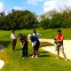 Learning golf is a corporate team building activity