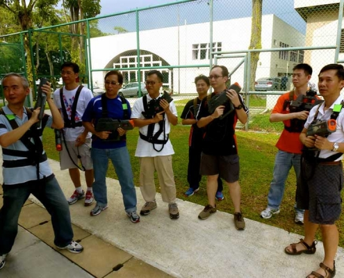 Laser tag teambuilding games briefing