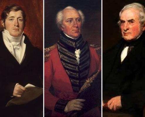 Sir Raffles, W. Farquhar, Dr. Crawfurd